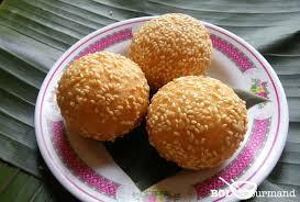 recette de cuisine vietnamienne boule de sésame bánh dessert vietnamien recette asiatique