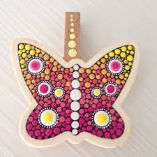 Butterfly Desk Accessories Butterfly Paper Clip Wooden Gift Office Decoration Wood Office