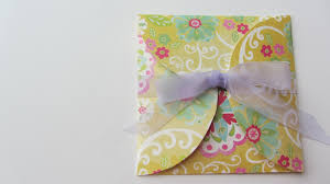 how to make a fun cd dvd envelope with scrapbook paper and a cd as