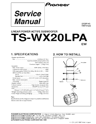 pioneer ts wx20lpa activ subwoofer service manual download