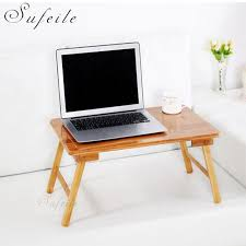 portable folding computer desk fashion portable folding wood laptop table sofa bed office stand