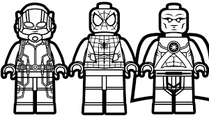 lego spiderman and lego ant man u0026 lego martian manhunter coloring