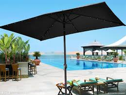 Rectangular Patio Umbrella With Solar Lights by Amazon Com Strong Camel 10 U0027x6 5 U0027 Outdoor Solar 26 Led Lights
