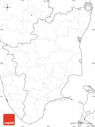 India Blank Outline Map by Blank Simple Map Of Tamil Nadu No Labels
