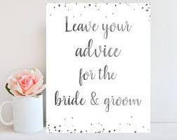 advice cards for and groom advice for the and groom bridal shower printable