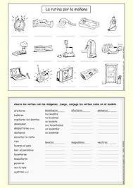 spanish reflexive verbs worksheet spanish pinterest
