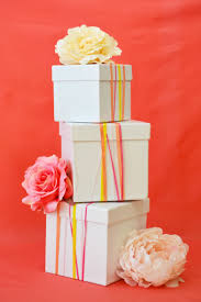 Wedding Cake Gift Boxes Diy Gift Wrapping Ideas With Ribbon Spark And Chemistry Crafts