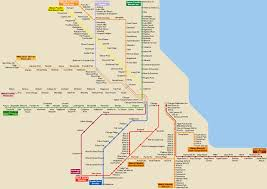 Chicago Transit Authority Map by List Of Metra Stations Wikipedia