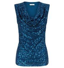 blue efa sequin top blouses outlet tops hobbs usa