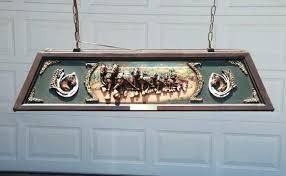 vintage budweiser pool table light antique budweiser clydesdale pool table light fooru me