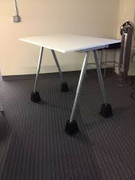 Standing Height Desk Ikea by Code Fellows U0027s Diy Ikea Standing Desk With Bed Risers