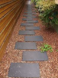 image result for backyard no grass stone and pebble designs with