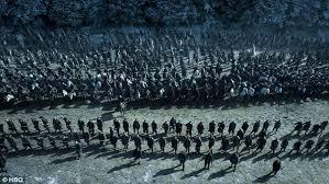 game of thrones u0027 jon snow takes on ramsay bolton u0027s massive army as