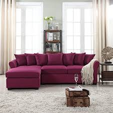 Sectional Sofa With Chaise Lounge Amazon Com Modern Large Linen Fabric Sectional Sofa L Shape