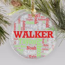 personalized family word glass ornament giftsforyounow