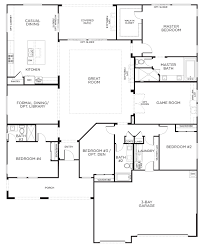 mesmerizing single story 4 bedroom house plans with small home