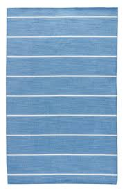 cod stellar blue striped rug