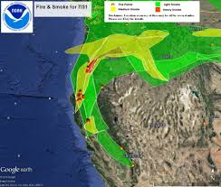 Wildfire Map August 2015 by California Smoke Information Saturday August 1 2015