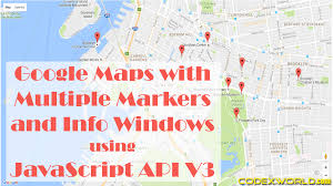 Hgoogle Maps Google Maps With Multiple Markers And Info Windows Using