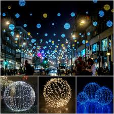 Large Outdoor Christmas Ornaments by Outdoor Sphere Lights Sacharoff Decoration