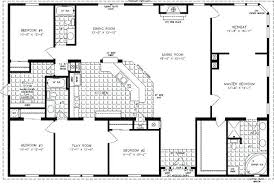 one story house plans with 4 bedrooms 4 bedroom rectangular house plans tarowing club