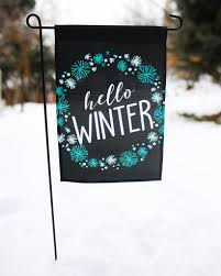 hello winter home u0026 garden flag u2013 second east llc