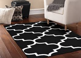 Big Bathroom Rugs by Amazon Com Garland Rug Quatrefoil Area Rug 5 By 7 Feet Black