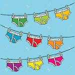 Resultado de imagen para hanging clothesline clothes B00UUSC7YY