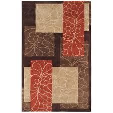 Orange And Brown Area Rugs Amazon Com Surya Cosmopolitan Cos 8889 Transitional Hand Tufted