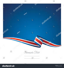 Costarican Flag Abstract Color Background Costa Rica Flag Stock Vector 423214999