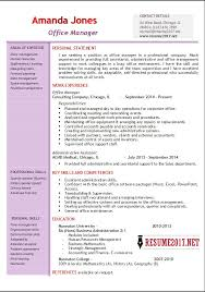 Resume Template For Office Assistant Office Manager Resume Template Administrative Assistant Resume