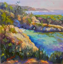California landscapes images An afternoon at china cove 12x12 oil california landscapes jpg