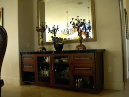 modern dining room buffet cabinet with glass top home interior