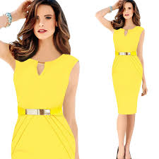 modele de robe de bureau 2015 office dress bodycon waist design dress formal