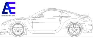 nissan 350z drawing cad update october 17 2011