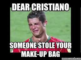 Cristiano Ronaldo Meme - ronaldo make up meme