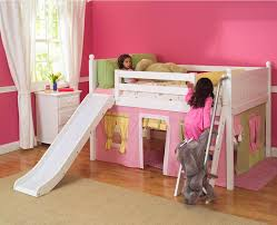 Girl Bunk Bed With Slides Diy Bunk Beds With Slide  Simple Girl - Pink bunk beds for kids