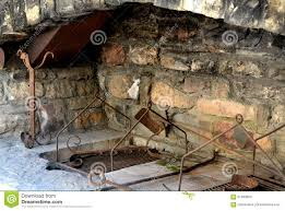 outdoor stone fireplace stock photo image of terrace 57483854