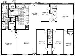 5 room floor plan 5 bedroom floor plans mobile home home deco plans