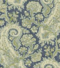 Paisley Home Decor Fabric by Home Decor Print Fabric Waverly Porch Paisley Chambray Joann