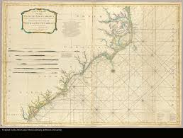 Map Of North And South Carolina A New Chart Of The Coast Of North America From Currituck Inlet To