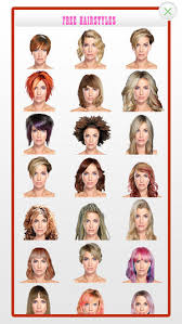 hairstyles for head shapes hairstyles for your face shape on the app store