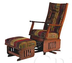 Glider Recliner With Ottoman Impressive Amish Leola Mission Swivel Glider Rocking Chair With