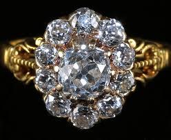 antique engagement rings uk antique diamond ring 2ct diamond cluster ring circa 1880