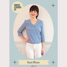 blouse sewing patterns sew it susie blouse pdf sewing pattern sew it