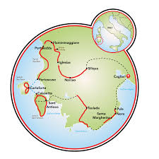 Italy World Map by Sardinia Evergreen Island World Bike Tour Italy Tripsite