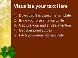 good luck irish symbols holiday powerpoint templates ppt