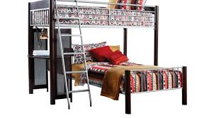room merlot reddish brown twin twin loft bed bunk loft