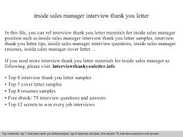 inside sales manager