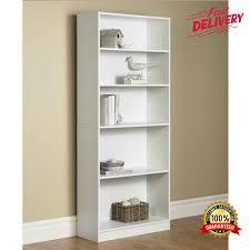 Sauder 5 Shelf Bookcase by Modern Bookcase 5 Shelf Display Stand Bookshelf Room Divider Wood
